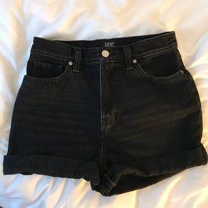 Black Denim Urban Outfitters Mom Shorts